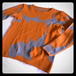 Sweaters - 🦄 3 for $50 - Orange/Brown Pattern Thick Sweater